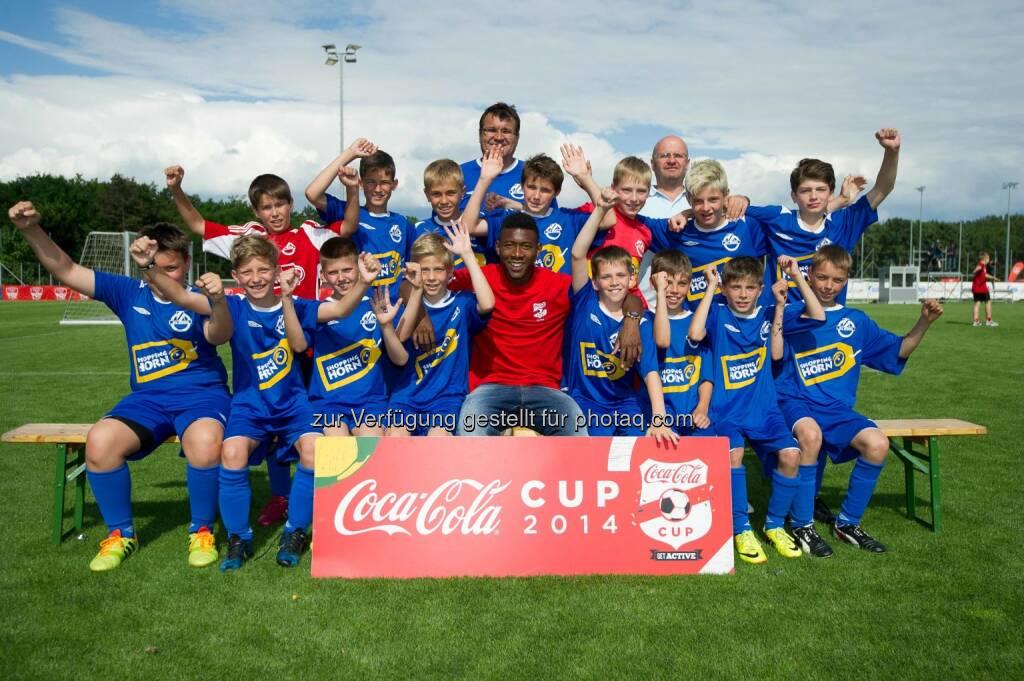 David Alaba mit der Mannschaft des SV Horn, Coca-Cola Cup, Bundesfinale. Foto: GEPA pictures/ Martin Hoermandinger, © Gepa (16.06.2014)