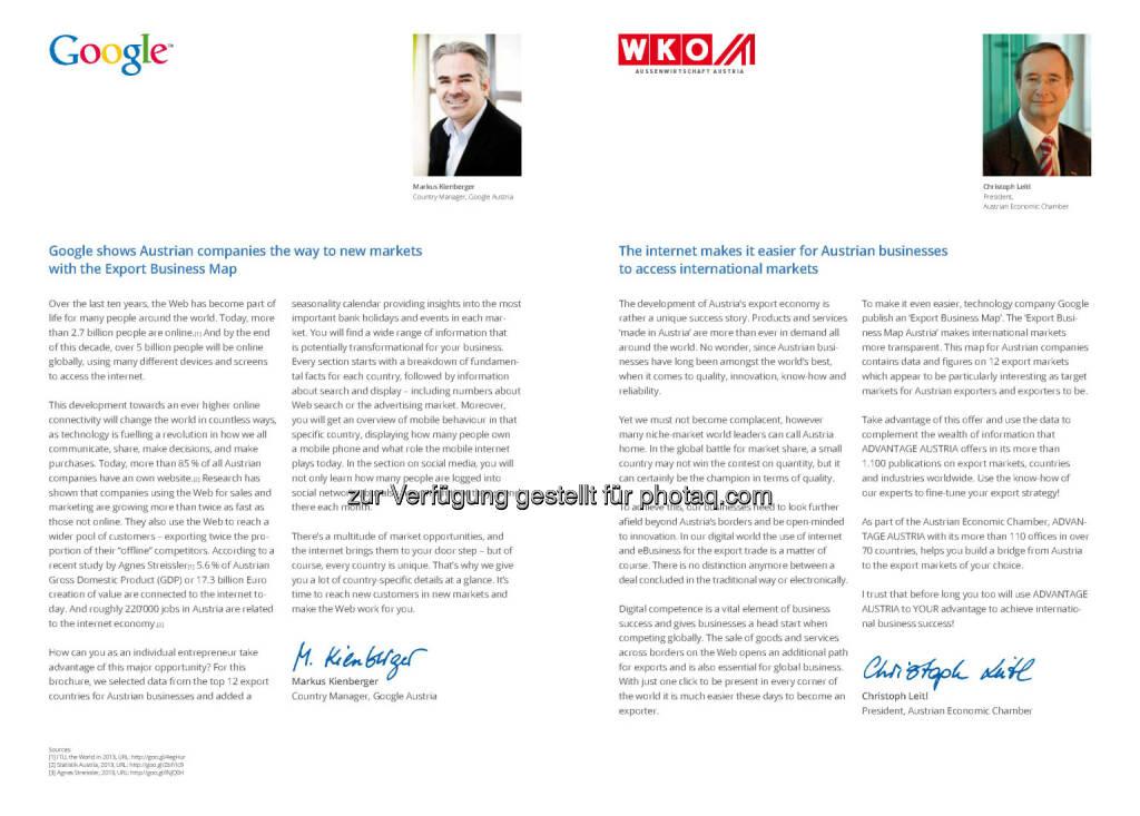 Markus Kienberger (Google), Christoph Leitl (WKO), © WKO Google (16.06.2014)