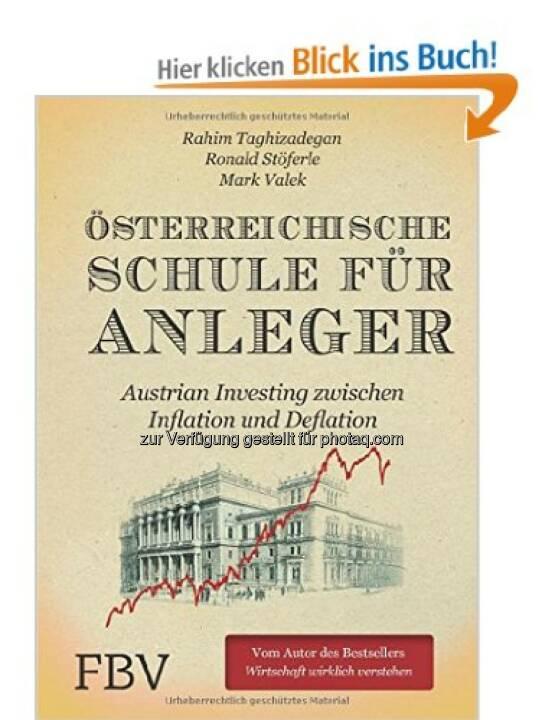 Österreichische Schule für Anleger - die Bottom Line, gelesen vom Co-Autor, gibt es gratis und exklusiv auf Runplugged, siehe http://www.christian-drastil.com/2014/06/17/exklusiv_runplugged_autor_ronni_stoferle_liest_aus_dem_bestseller_osterreichische_schule_fur_anleger