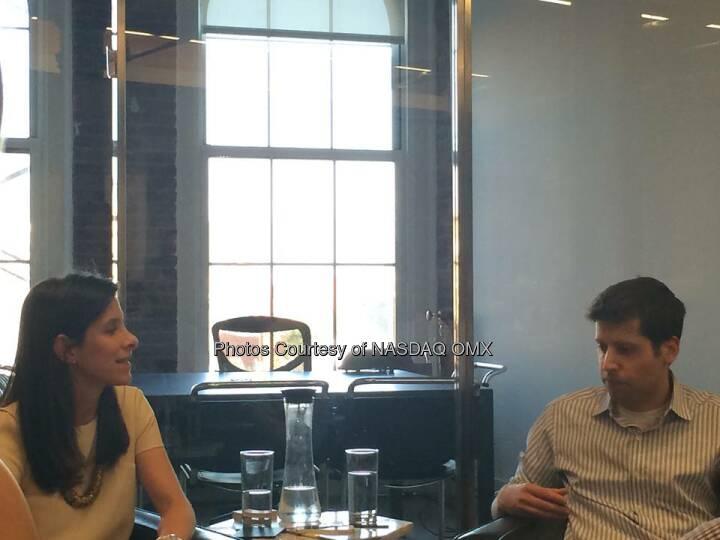 Cool event by TheInformation, founder @JessicaLessin interviews @Ycombinator's President Sam Altman @sama #startup  Source: http://facebook.com/NASDAQ