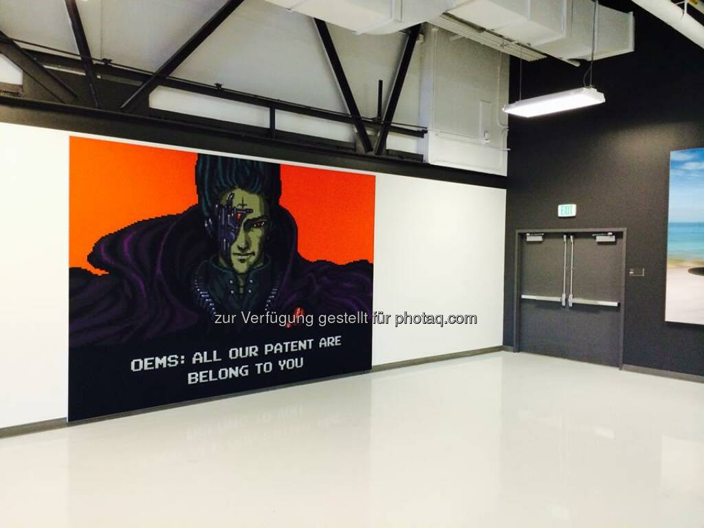 Tesla: New look for our patent wall...#AllOurPatentAreBelongToYou (h/t Jason at Jalopnik)  Source: http://facebook.com/teslamotors (20.06.2014)