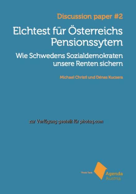 Hier steht unsere aktuellste Studie Elchtest für Österreichs Pensionssystem kostenlos zur Verfügung: http://www.agenda-austria.at/inhalte/publikationen/  Source: http://twitter.com/AgendaAustria (20.06.2014)