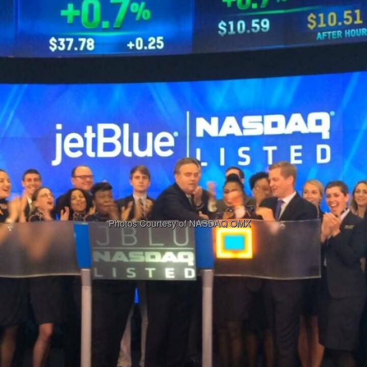Watch JetBlue Airways ring the Nasdaq Closing Bell  http://facebook.com/NASDAQ