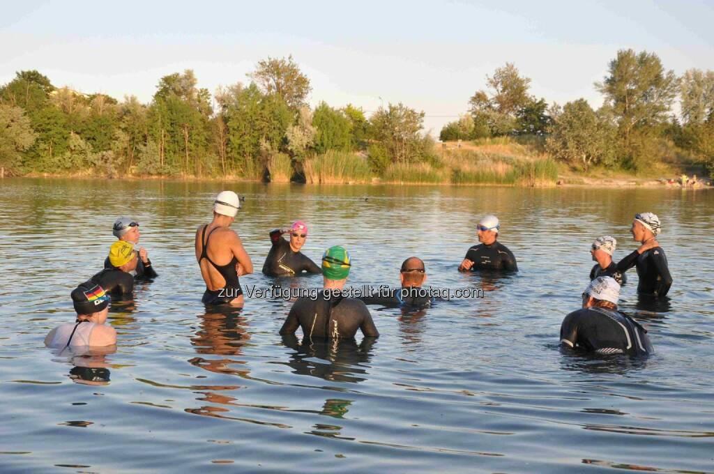 Besprechung, Tristyle-Vereinstraining Freiwasserschwimmen, © www.tristyle.at (21.06.2014)