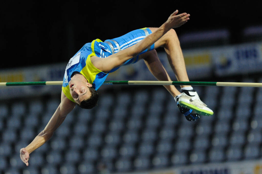 Sprung, Hürde, Ziel, geschafft http://www.shutterstock.com/de/pic-79240282/stock-photo-turin-italy-june-bondarenko-bodan-ukr-performs-high-jump-during-the-memorial-primo.html (c) Diego Barbieri / Shutterstock.com (24.06.2014)