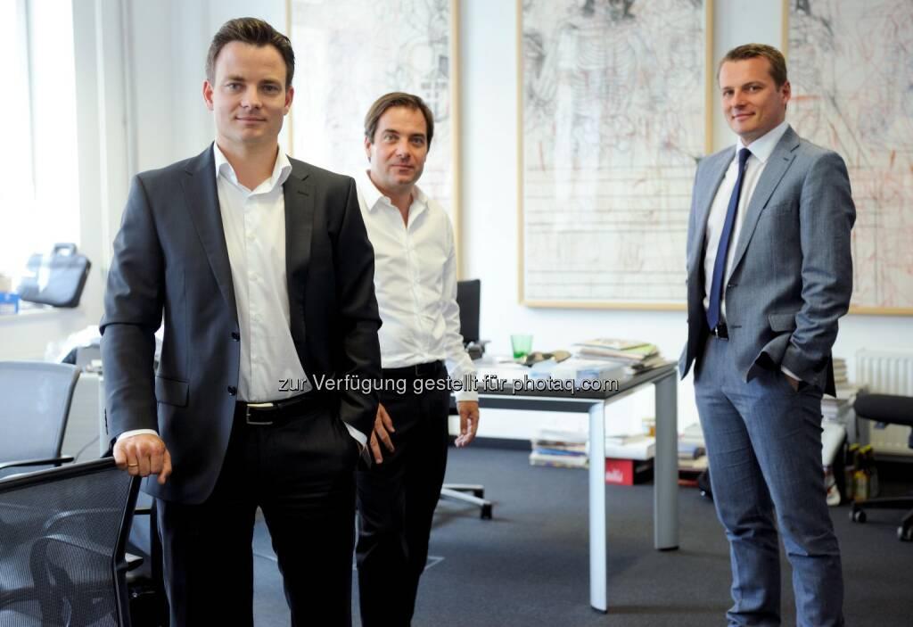 Rudolf Schwarz, Rainer Nowak, Herwig Langanger - Styria Media Group AG: Rudolf Schwarz ist neuer Geschäftsführer für Die Presse und WirtschaftsBlatt sowie neuer Herausgeber für Die Presse (c) DiePresse (24.06.2014)