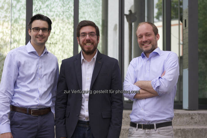 Oliver Vins, Yassin Hankir und Thomas Bloch bringen mit dem FinTech-Startup vaamo (www.vaamo.de) die einfache Geldanlage für jedermann (c) vaamo
