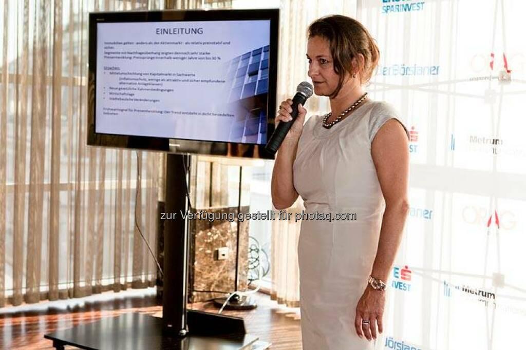Carola Weibel (Reiter Immobilien) (Bild: DerBörsianer) (25.06.2014)
