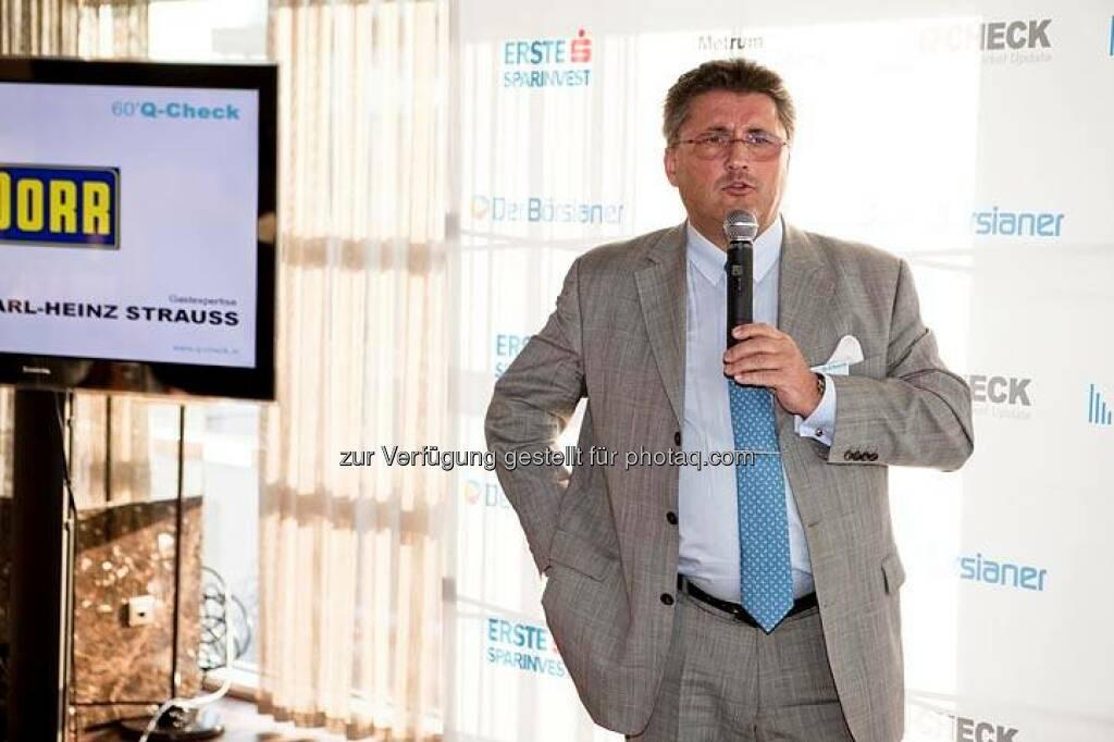 Karl-Heinz Strauss (Porr) (Bild: DerBörsianer) (25.06.2014)