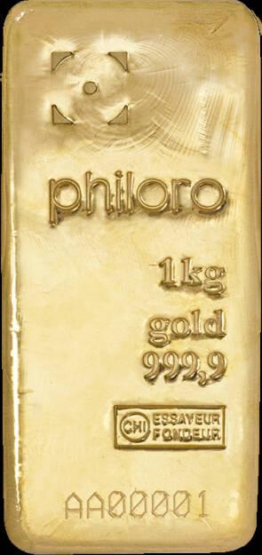 philoro bietet ab sofort eigene LBMA-zertifizierte Goldbarren an, zunächst im Angebot sind Goldbarren in den Größen, 1g, 2,5g, 5g, 10g, 20g, 1oz, 50g, 100g und 1000g. (Bild: philoro) (26.06.2014)