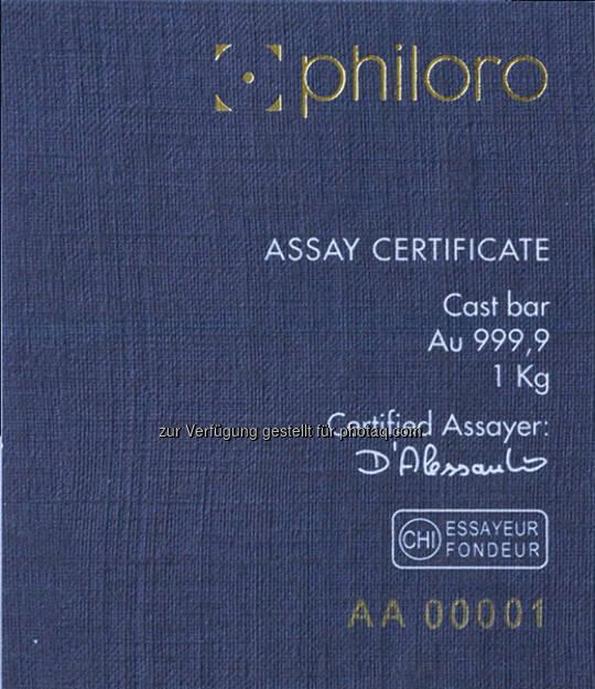 philoro LBMA-Certificate  (26.06.2014)
