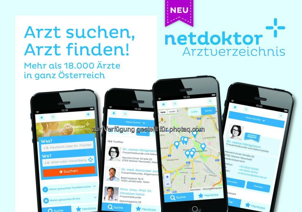 netdoktor.at: netdoktor veröffentlicht erste Arztsuche-App für Österreich (Bild: netdoktor.at) (26.06.2014)