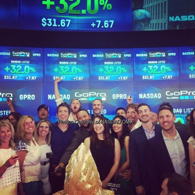 #GoPro celebration continues after #FirstTrade! Happy Belated Birthday Nick!  @GoPro #RiceKrispiesTreats Cake #IPO #Celebration  Source: http://facebook.com/NASDAQ (26.06.2014)