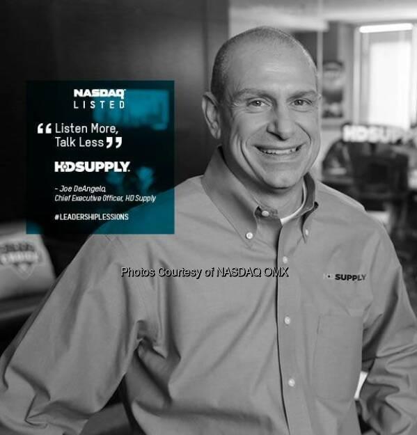 #LeadershipLessons from Joe DeAngelo, CEO of @HDSupplyFM $HDS  Source: http://facebook.com/NASDAQ (26.06.2014)