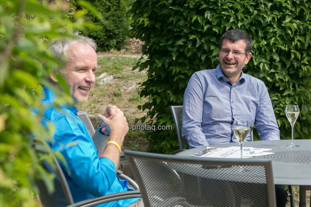 Was zu Lachen : Christian Drastil, Andreas Wölfl, © photeq/Martina Draper (27.06.2014)