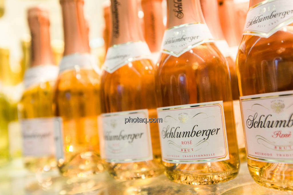 Sektflaschen, Rose, Schlumberger, © photeq/Martina Draper (27.06.2014)