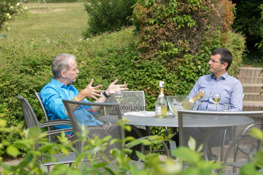 Talk, Brainstorming: Christian Drastil, Andreas Wölf, © photeq/Martina Draper (27.06.2014)