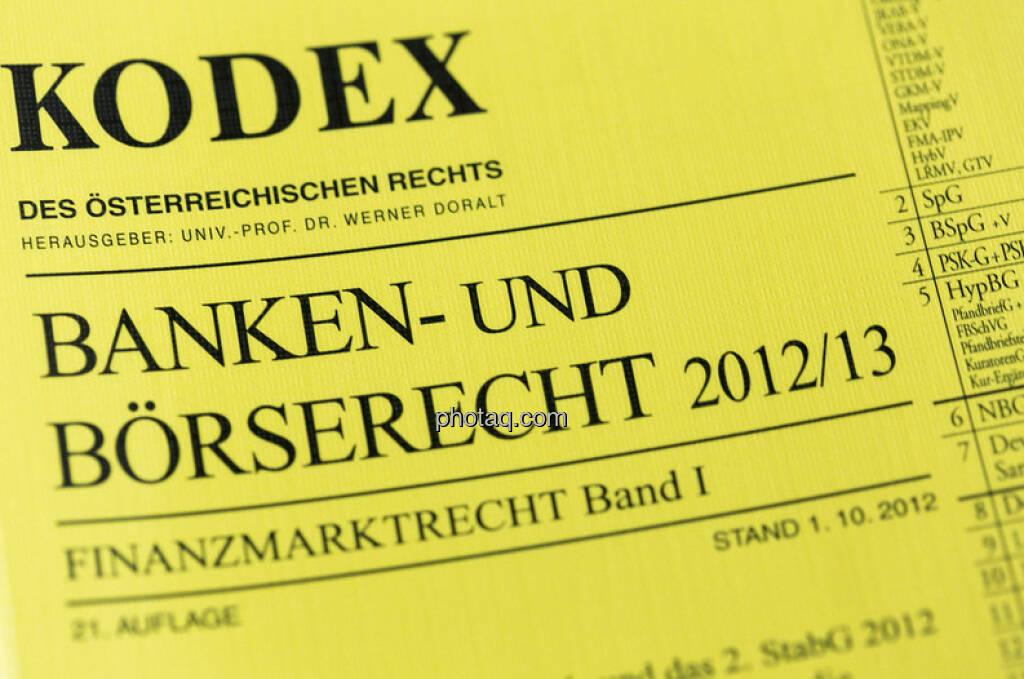 Kodex Banken- und Börserecht 2013 (c) Martina Draper (05.01.2013)