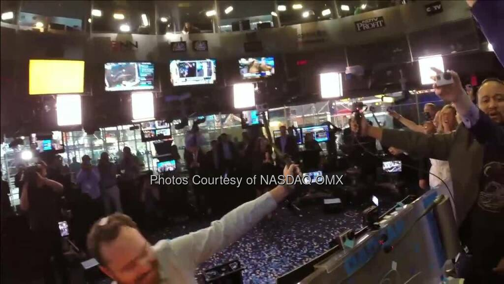 Watch the incredible GoPro Nasdaq Opening Bell Ceremony in Celebration of their #IPO! The different GoPro camera angles in the studio will blow your mind $GPRO  Source: http://facebook.com/NASDAQ (28.06.2014)