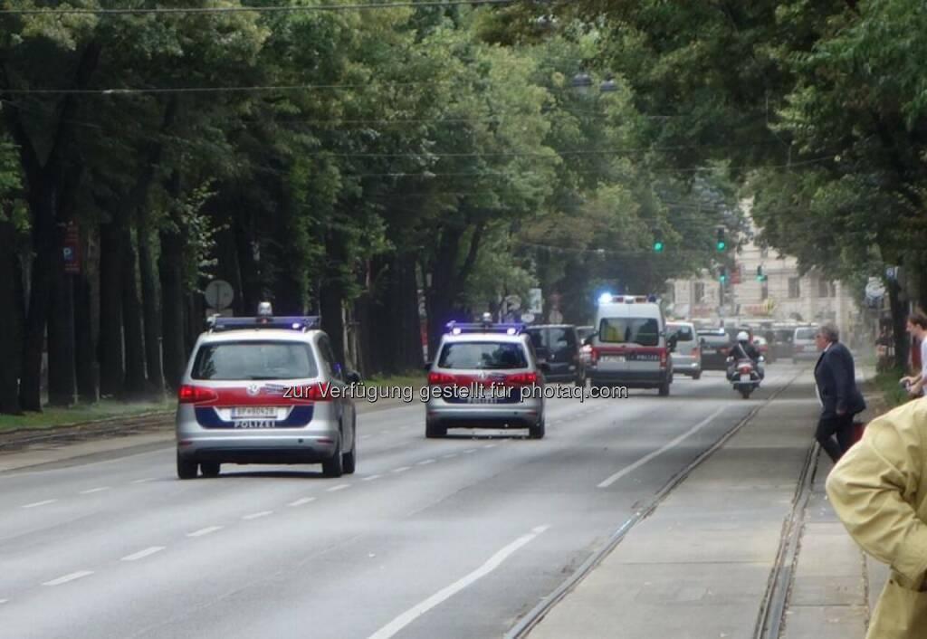 Polizei Ringstrasse Wien, © Dirk Herrmann (29.06.2014)