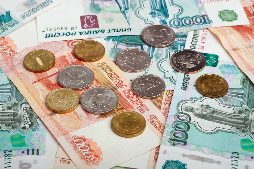 Rubel, Russland, Moskau http://www.shutterstock.com/de/pic-129396722/stock-photo-russian-currency-rouble-banknotes-and-coins.html (Bild: www.shutterstock.com) (29.06.2014)