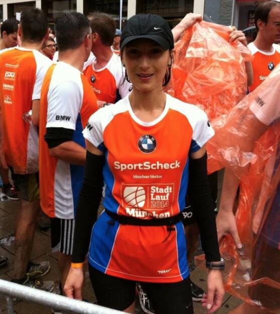 Susanne Stickler vom Runplugged Partner Baader Bank beim Stadtlauf München über die Halbmarathon-Distanz  (29.06.2014)
