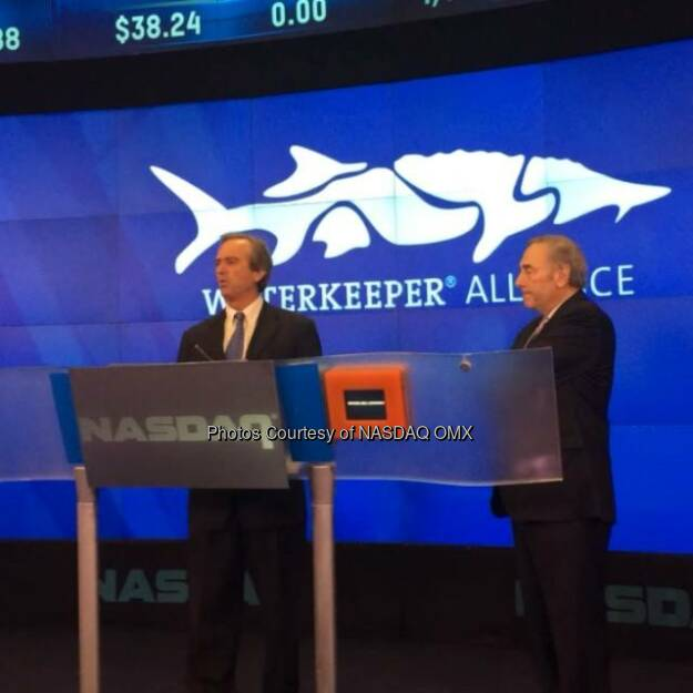 Robert F. Kennedy Jr. Talks about the @waterkeeperalliance before the NASDAQ #OpeningBell! @SandyFrucher  Source: http://facebook.com/NASDAQ (30.06.2014)