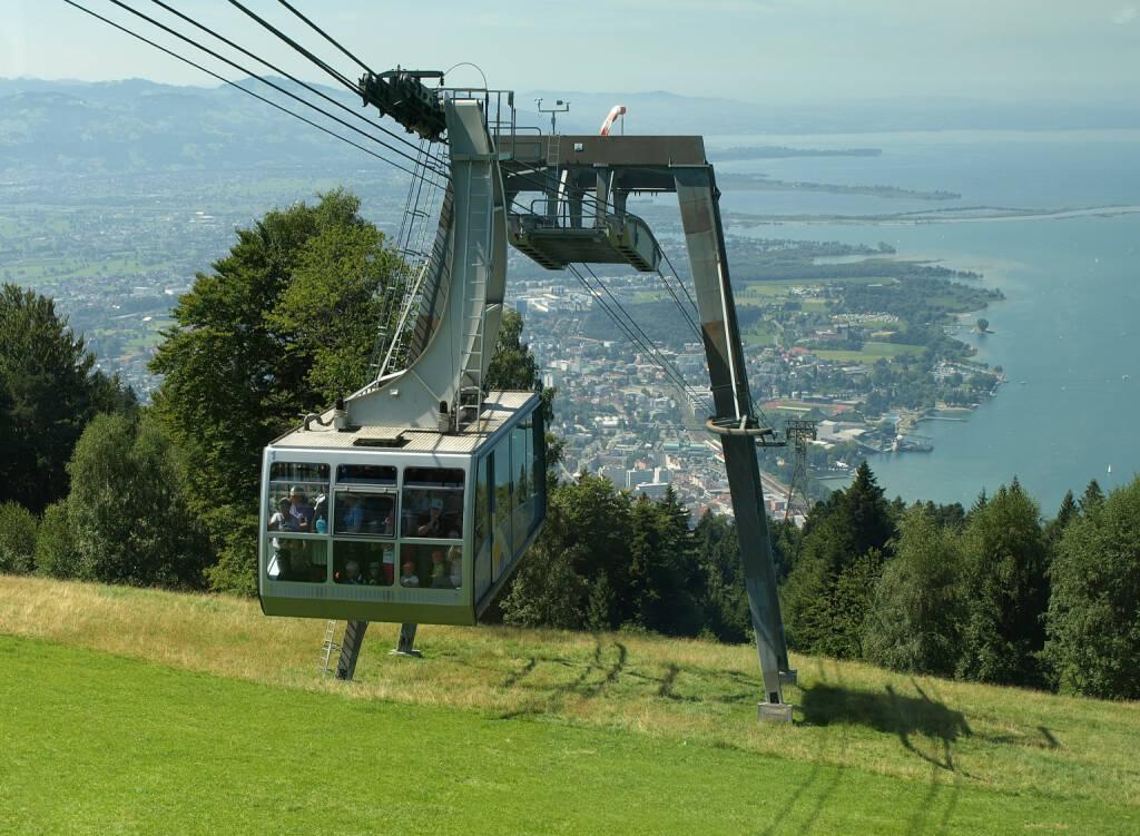 Bregenz, Vorarlberg, Bodensee, Seilbahn, Pfänder, http://www.shutterstock.com/de/pic-157720442/stock-photo-cable-car-in-the-mountains-bregenz-austria.html (Bild: www.shutterstock.com) (01.07.2014)