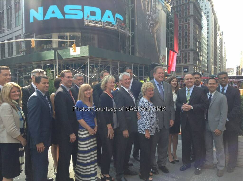 Jason Industries visited Times Square to ring the #NASDAQ Opening Bell today! #DreamBIG $JASN  Source: http://facebook.com/NASDAQ (01.07.2014)