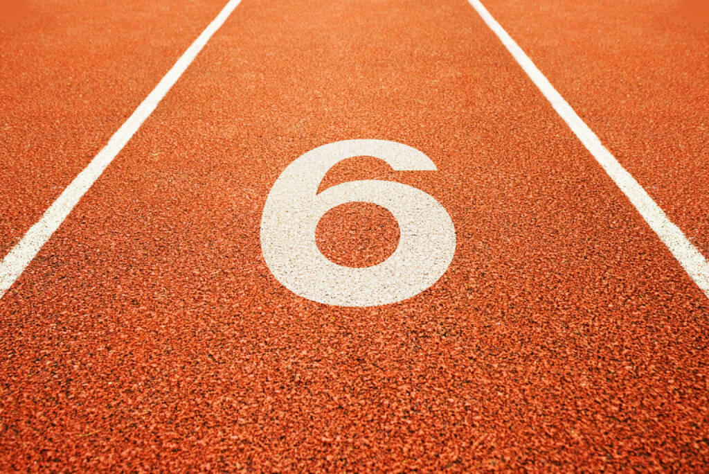 6, Sechs, http://www.shutterstock.com/de/pic-137554556/stock-photo-number-six-on-athletics-all-weather-running-track.html , © (www.shutterstock.com) (02.07.2014)