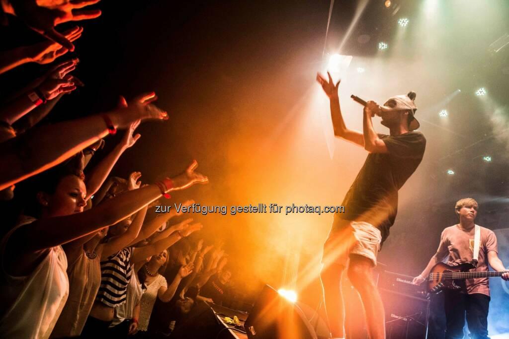 Rapper Cro rockt auf der X-Jam 2014, © Aussender (02.07.2014)
