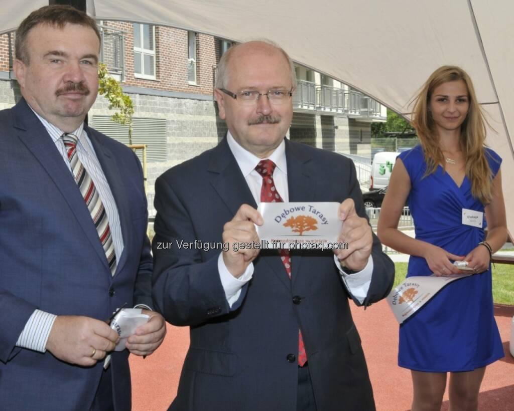 Jacek Wesolowski (Immofinanz), Bürgermeister Piotr Uszok, © Immofinanz (03.07.2014)