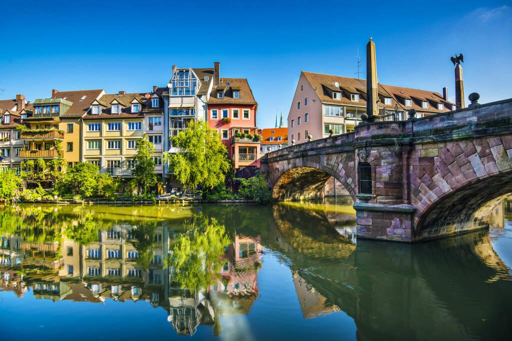 Nürnberg, Altstadt, Pegnitz, http://www.shutterstock.com/de/pic-168736211/stock-photo-nuremberg-germany-old-town-on-the-pegnitz-river.html (Bild: www.shutterstock.com) (04.07.2014)