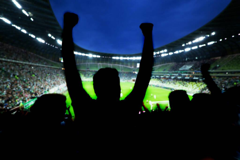 Jubel, Menschenmassen, Fussball, Freude, Sieg, http://www.shutterstock.com/de/pic-161967395/stock-photo-football-soccer-fans-support-their-team-and-celebrate-goal-score-victory-full-stadium.html , © shutterstock.com (04.07.2014)