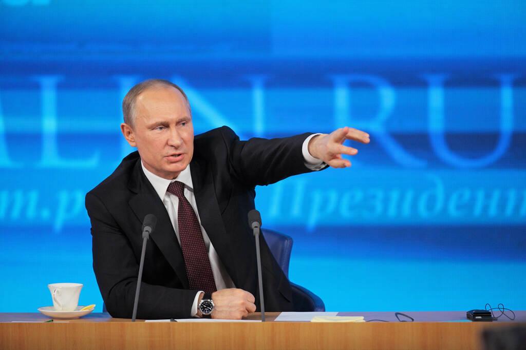 Wladimir Wladimirowitsch Putin, Präsident der Russischen Föderation, http://www.shutterstock.com/gallery-410482p1.html?cr=00&pl=edit-00 (Bild: ID1974 / Shutterstock.com) (05.07.2014)