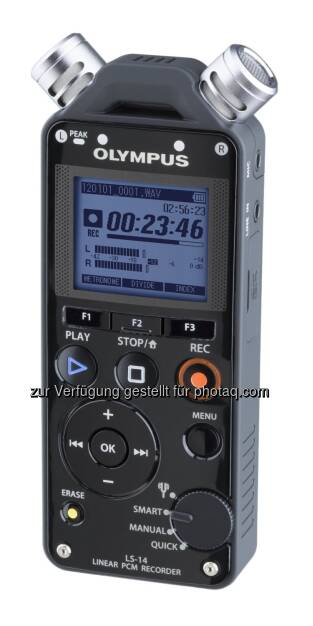 Olympus schreibt: Noch nie war es so einfach, hochwertige Audioaufnahmen zu produzieren: Die Linear-PCM-Recorder LS-12 und LS-14 überzeugen mit einer professionellen Ausstattung und praktischen Funktionen wie Tuner, Metronom oder Overdubbing. Für eine einfache Bedienung sorgt das Wahlrad, an dem sich die unterschiedlichen Modi (Manuell, Quick und Tuner) sowie der innovative Smart-Modus einstellen lassen. LS-12 und LS-14 sind für 159,99 €/199,00 CHF und 219,99 €/279,00 CHF erhältlich (08.01.2013)