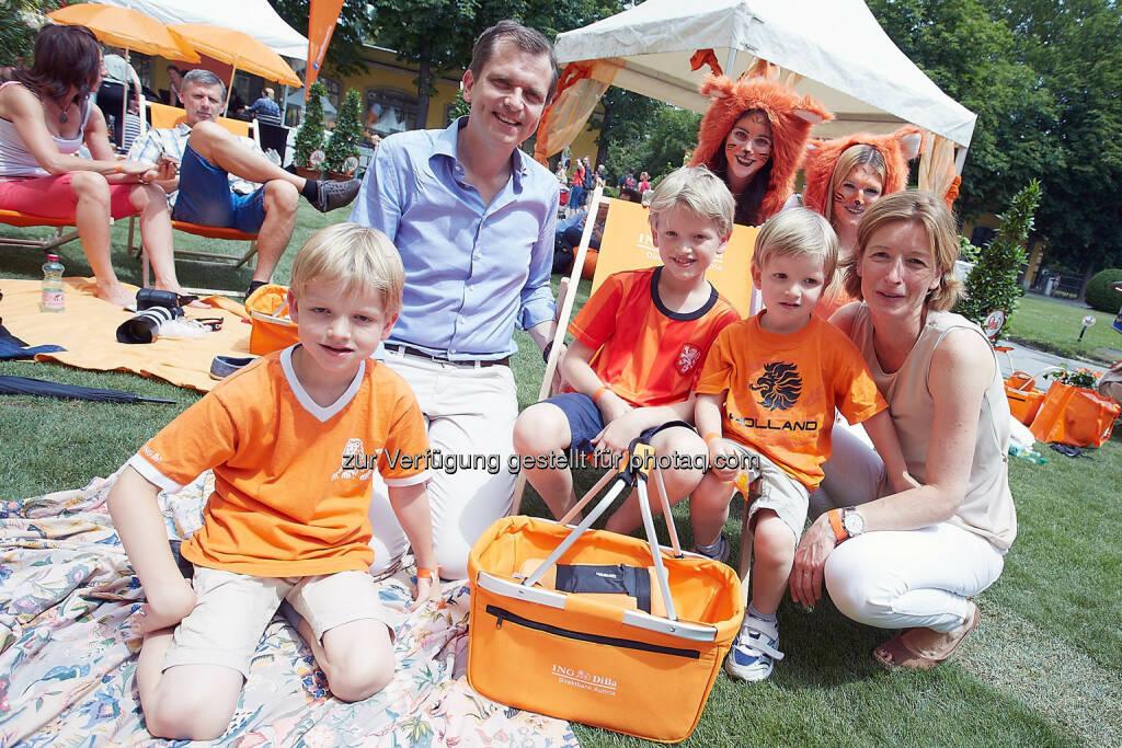 CEO Roel Huisman mit Familie (Bild: Thomas Preiss) (07.07.2014)