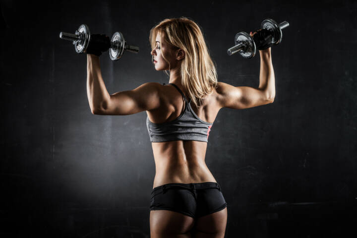 Kraft, Power, Stärke, Aufschwung, Muskel, Training, Ausdauer, Energie, stark,  http://www.shutterstock.com/de/pic-196322345/stock-photo-brutal-athletic-woman-pumping-up-muscles-with-dumbbells.html