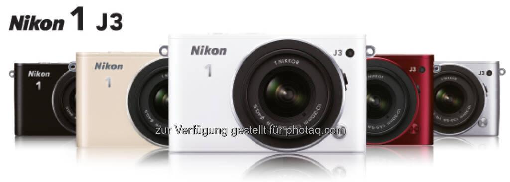 Nikon 1 J3 - laut Nikon kompakteste Systemkamera der Welt (09.01.2013)