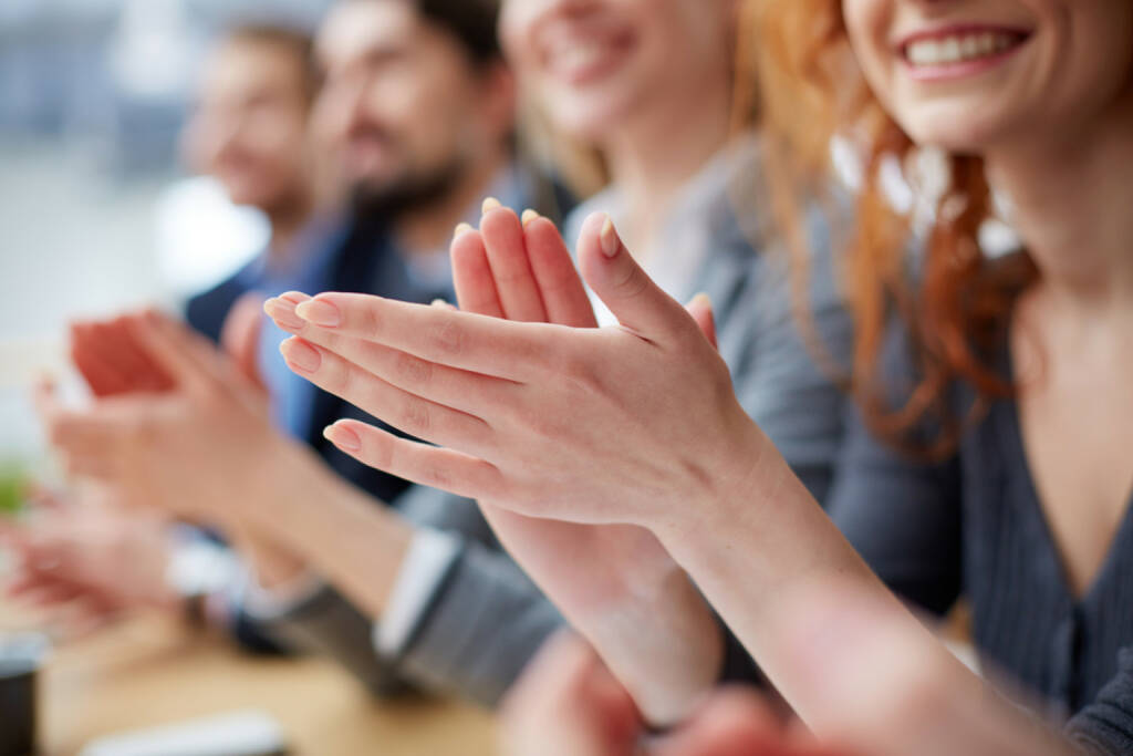 klatschen, Applaus, Beifall, Zustimmung, Hände, Bravo, http://www.shutterstock.com/de/pic-193500968/stock-photo-photo-of-business-people-hands-applauding-at-conference.html (Bild: shutterstock.com) (08.07.2014)