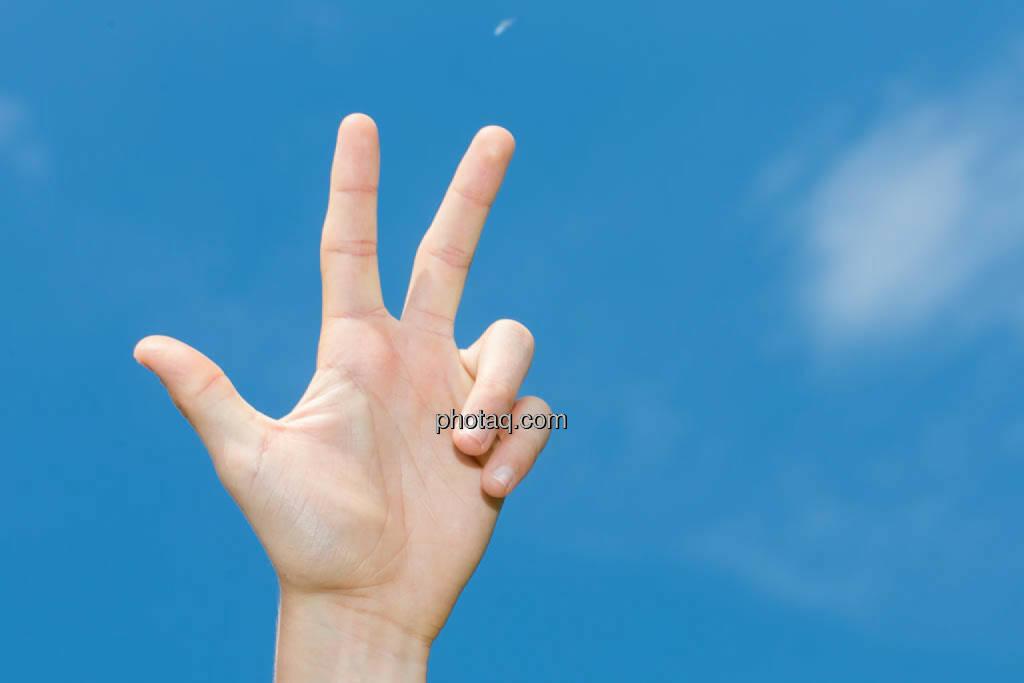 Hand, drei, 3, © photaq/Martina Draper (08.07.2014)