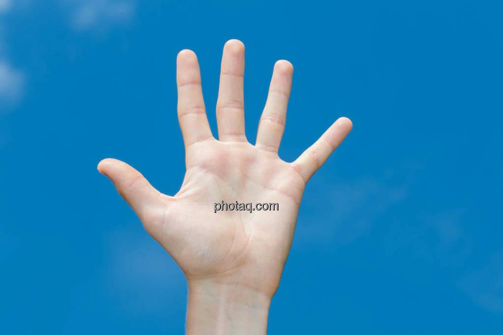 Hand, 5, fünf, high five, © photaq/Martina Draper (08.07.2014)