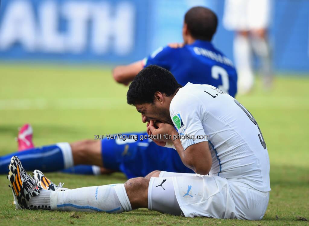 Luis Suarez beschert sporntet.at neue Zugriffsrekorde auch im Juni (Photo by Matthias Hangst/Getty Images), © Aussendung (09.07.2014)