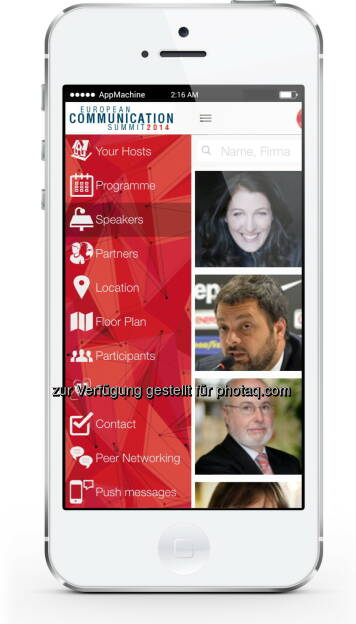 AppMachine: European Communication Summit in Brüssel mit eigener Smartphone-App (Bild: AppMachine) (10.07.2014)