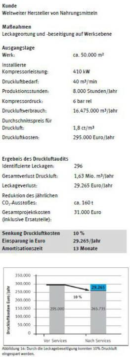 """Praxis-Beispiel """"Hohes Einsparungspotenzial bei Energiekosten"""". Credit: Festo"""