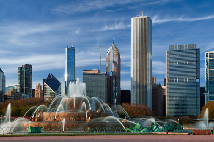 Chicago, Illinois, Buckingham Fountain, Al Bundy, USA, http://www.shutterstock.com/de/pic-79603012/stock-photo-buckingham-fountain-in-grant-park-chicago-usa.html