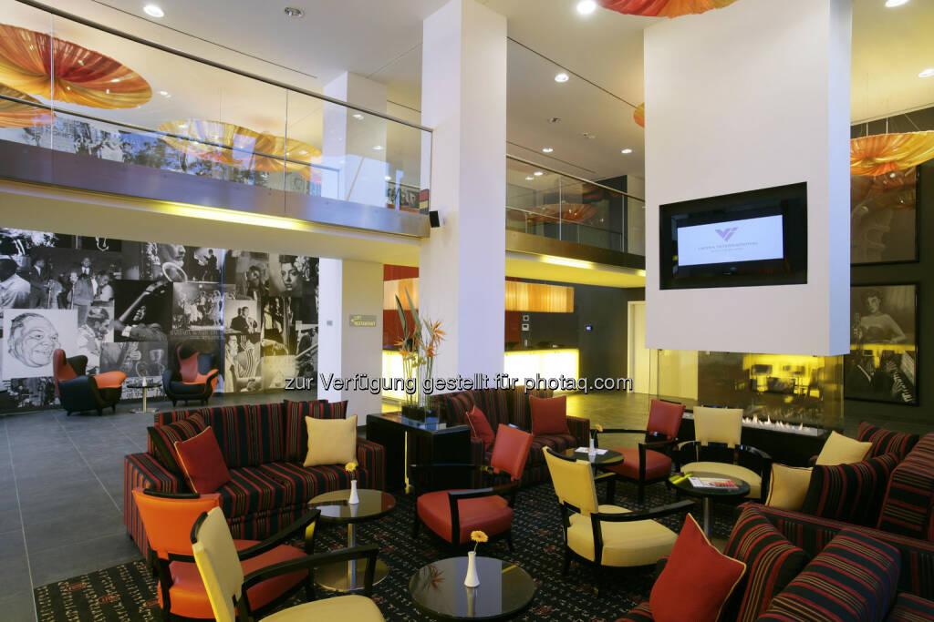 Warimpex verkauft Anteil am angelo Hotel München sowie benachbartes Bauland - hier im Bild: Angelo München Lobby (c) Warimpex (10.01.2013)