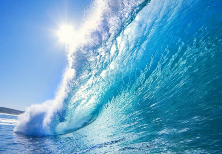 Welle, Erfolg, Erfolgswelle, Meer, Wasser, Sonne, schwappen, http://www.shutterstock.com/de/pic-25870990/stock-photo-blue-ocean-wave.html