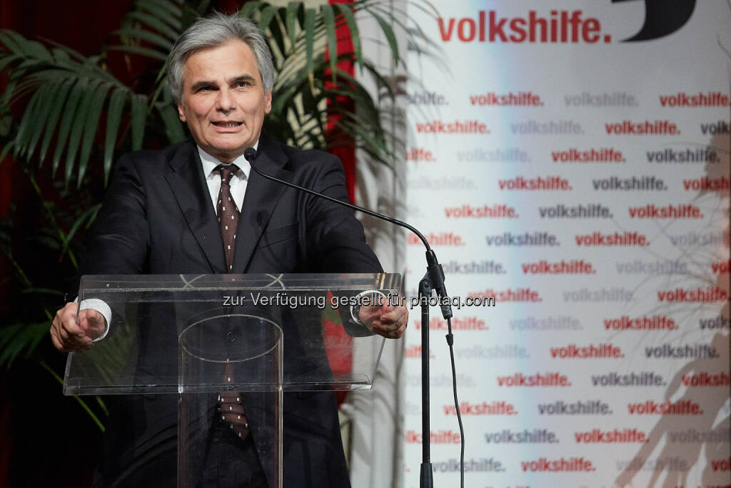 Bundeskanzler Werner Faymann, © Volkshilfe Österreich/APA-Fotoservice/Preiss (11.07.2014)