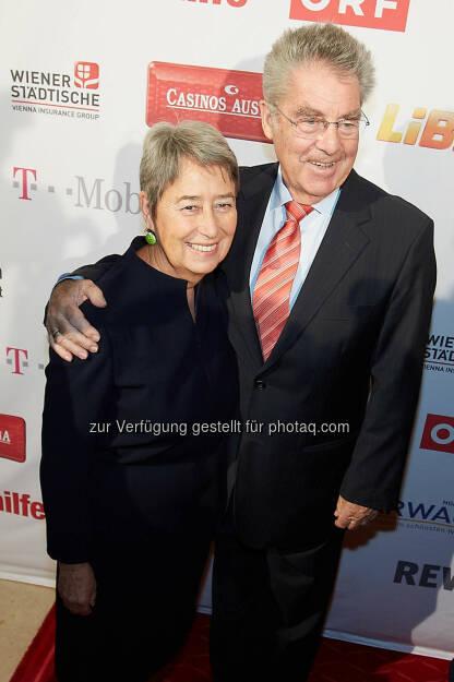 Volkshilfe Schirmfrau Margit Fischer, Bundespräsident Heinz Fischer, © Volkshilfe Österreich/APA-Fotoservice/Preiss (11.07.2014)